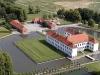 Luftfoto over Clausholm Slot set fra syd-vest