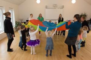 Børnehaven på besøg i Voldum Kirkehus, nov17