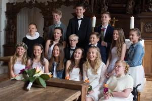 Konfirmandhold 2017 Voldum Kirke