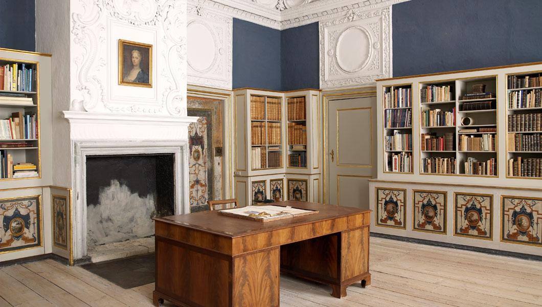 Biblioteket på Clausholm Slot