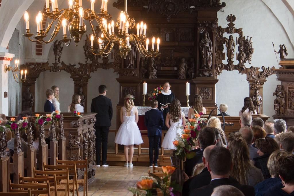 Konfirmation i Voldum Kirke, maj 2017
