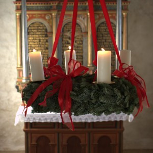 Adventskrans i Rud Kirke