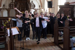 Gospelworkshop i Voldum Kirke, april 2017
