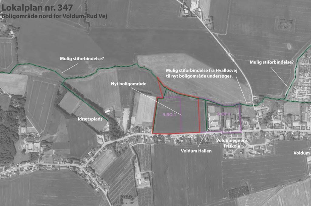 Nyt boligområde nord for Voldum-Rud Vej